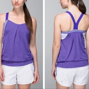 Lululemon Rest Less Tank Top Heathered Berry 6